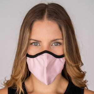 Easy Breather Washable Filtered Face Mask - Baby Pink