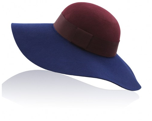 Marsala & Navy Floppy Hat