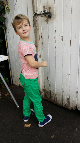 Boys Chino Pants - Emerald