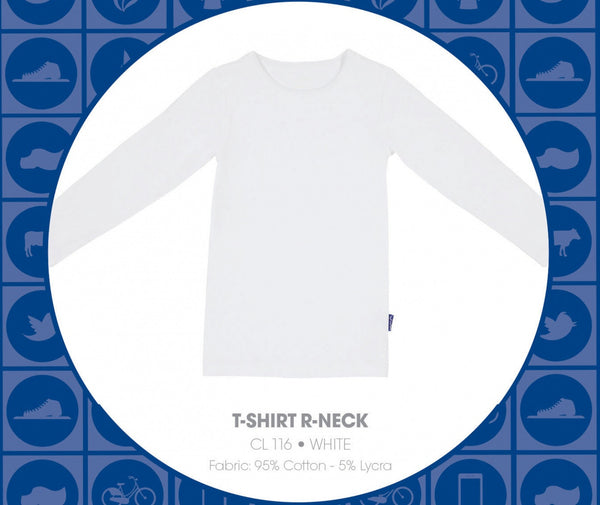 Boys White LS T Shirt