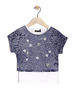 IKKS - Girls T Shirt  |  2 In 1