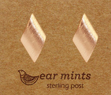 Brushed Diamond Earrings