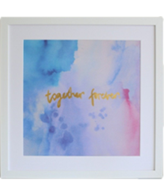 Together Forever - Gold Foil Wall Art Print