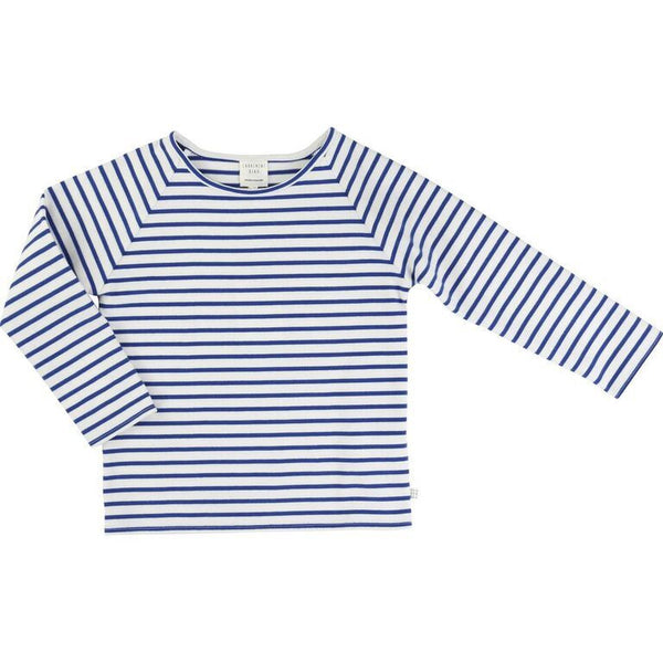 Unisex Marinière Blue-Striped Top