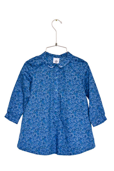 Abbey Dress L/S - BlueFloral