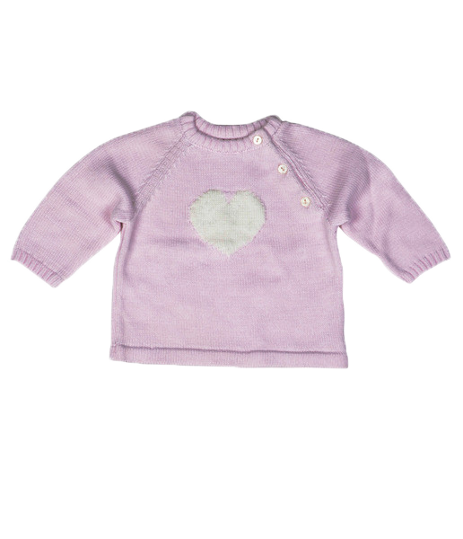 White Heart Pink Jumper