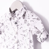 Cargo Rock White Print Shirt