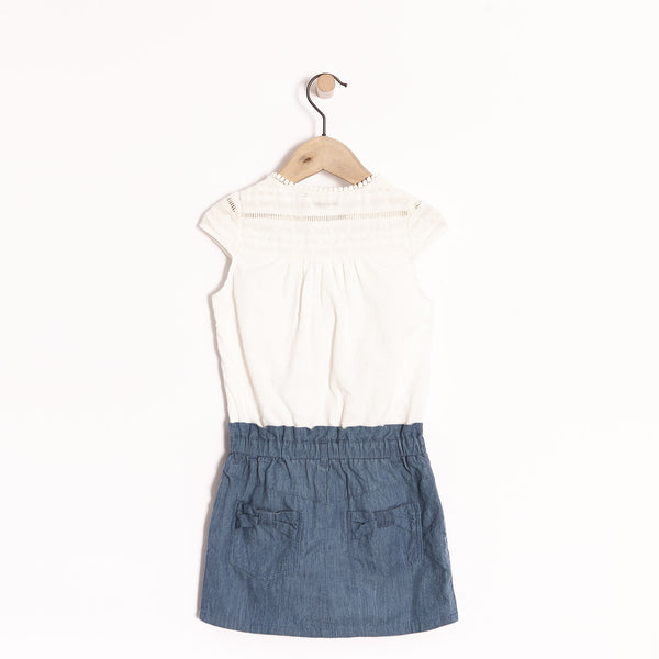 IKKS - Lace Denim Dress with glitter belt.