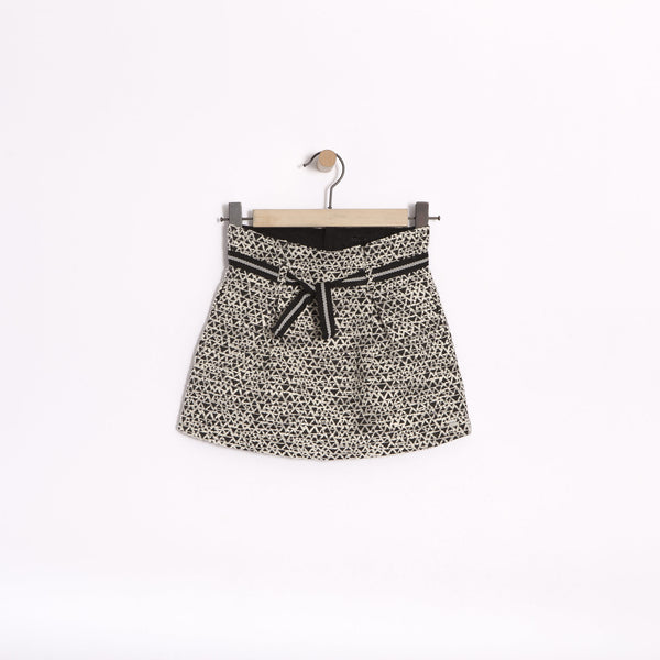 IKKS - Black & White Jacquard Skirt