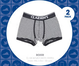 Claesen's : 2 Pack  - Boys Navy and White Striped Boxers
