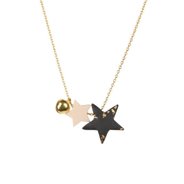Salena Star Chain - Midnight Blue Necklace