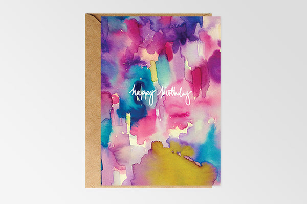 Happy Birthday - Multi Colour Card