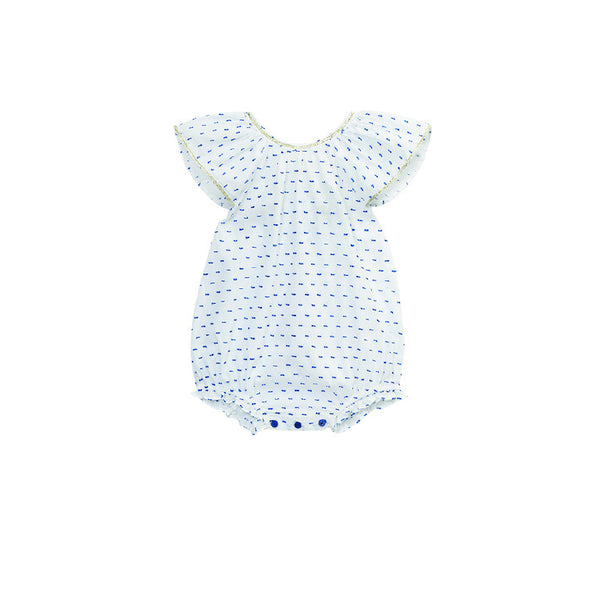 Blue Dot Cotton Indie Onesie