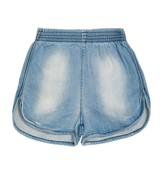 Baobab : Pale Washed Denim Girls Shorts