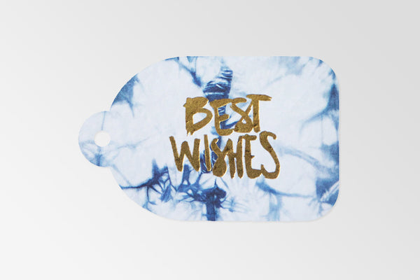 Best Wishes Gold Foil Tag