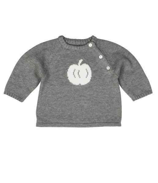 White Apple Jumper in Grey