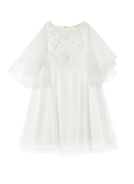 HEARTS AFLUTTER TUTU DRESS-MILK