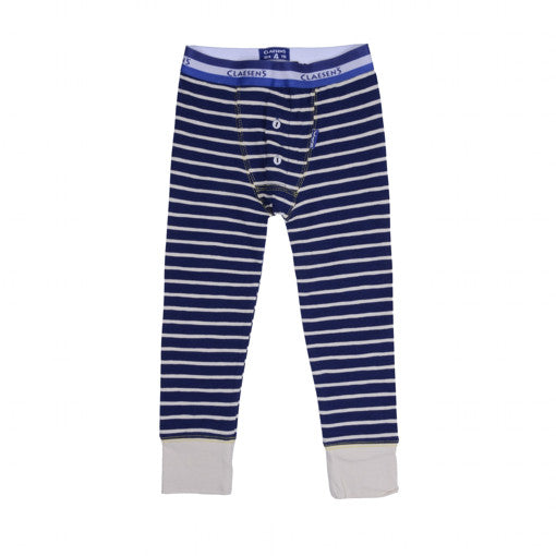 Claesen's : Boys Navy Stripes Long Johns