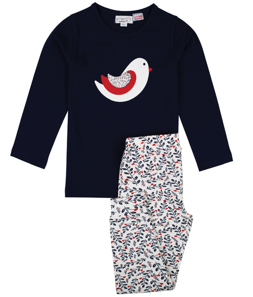 Gingerlilly - Bird Print Girls Pj Set