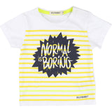 Normal is Boring Striped Yellow T-shirt