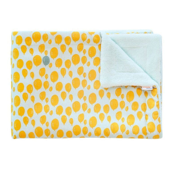 Fleece Blanket Balloon Yellow