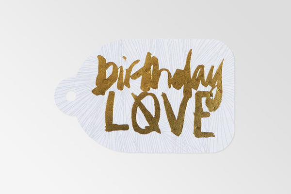 Birthday Love Gold Foil Tag