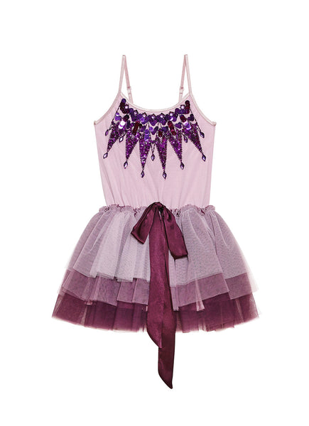 SUGAR PLUM FAIRY TUTU DRESS - MULBERRY