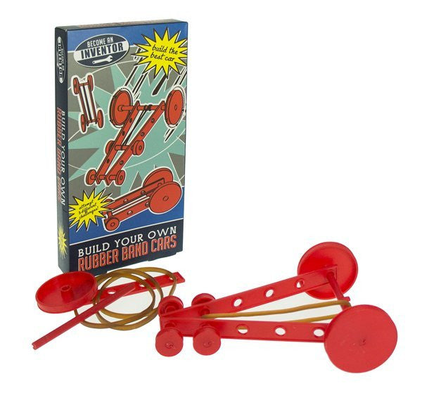 Inventor Rubber Band Car Set