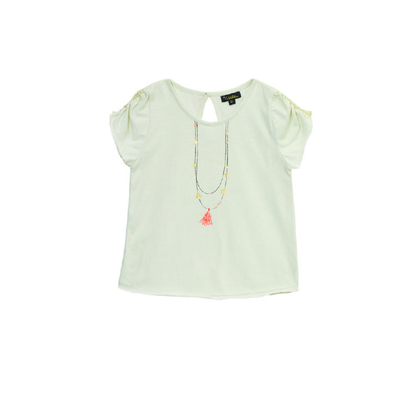Ivory Lucia Necklace T Shirt