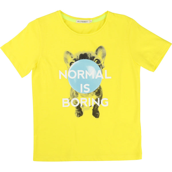 Normal is Boring Printed Yellow T-Shirt