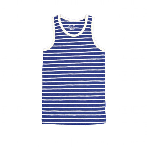 Claesen's : Boys Navy Striped Singlet