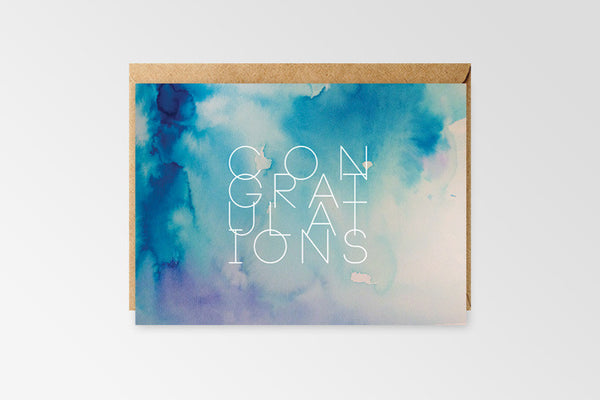 Congratulations Card - Blue