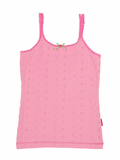 Girls Pink Embroidery Singlet