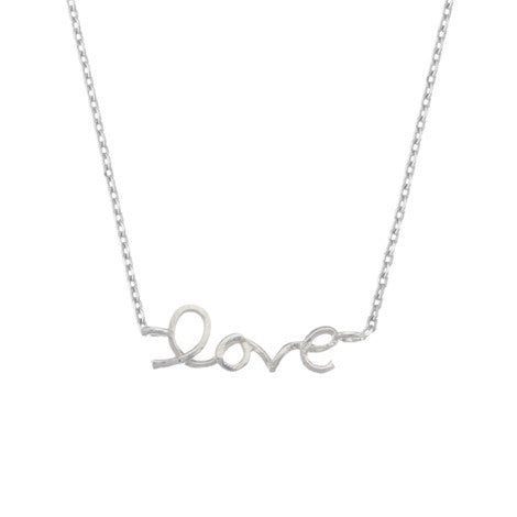 Love Word Necklace - Silver