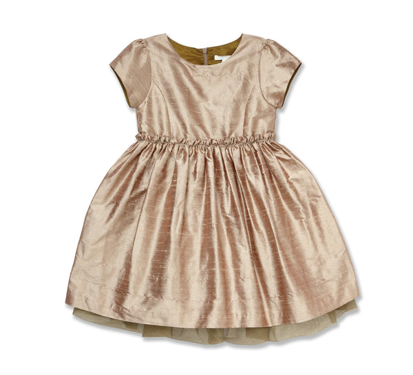 Marie Chantal : Gold Silk Dress