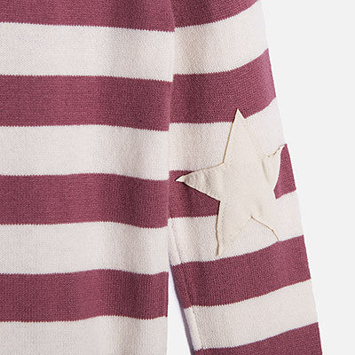 Fuschia Striped Pullover Mariniere