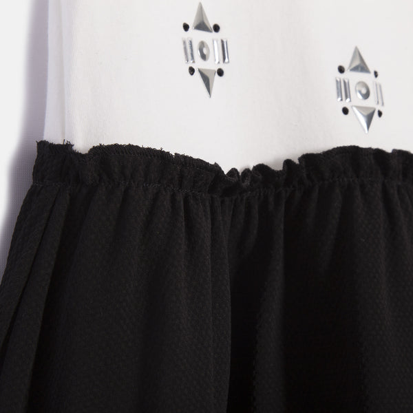 IKKS - Black & White 2 in 1 Girls Dress