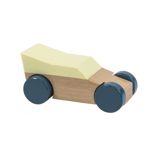 Sebra Wooden Racer Car Yellow