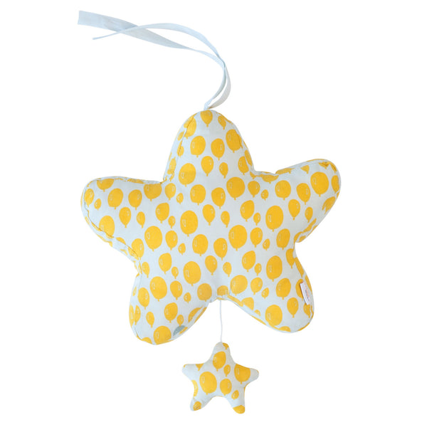 Star Music Box Balloon Yellow