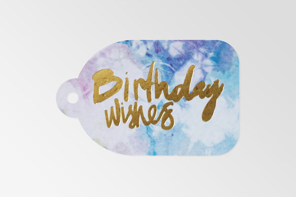 Birthday Wishes Gold Foil Tag