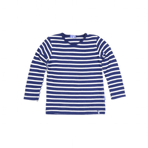 Baby Boys LS Navy Stripes T-Shirt