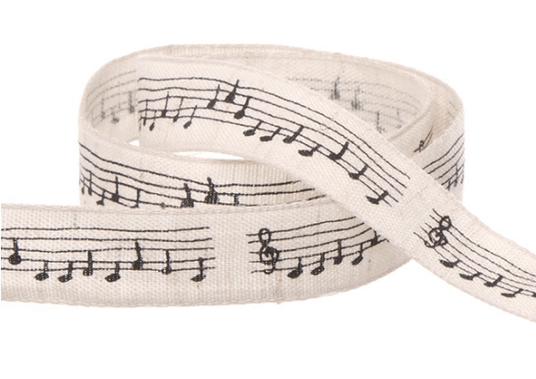 Black Musical Notation Ribbon