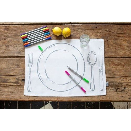 Doodle Stitch Placemats Dinner Plate Design