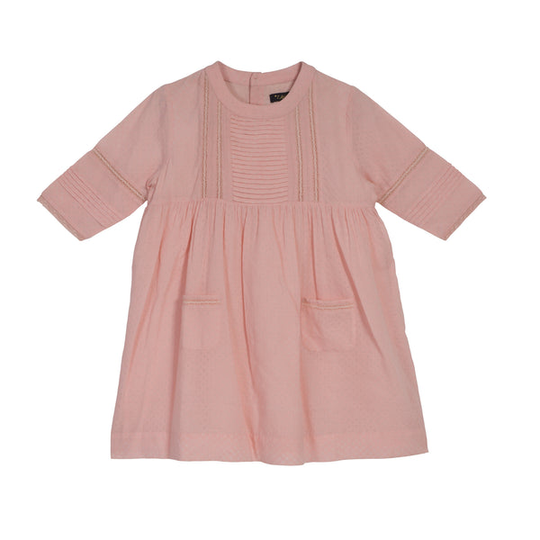 Marta Pink Dress Waxed Bobby