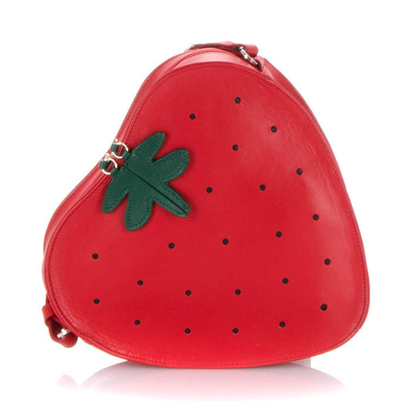 Strawberry Leather Cross Body Bag