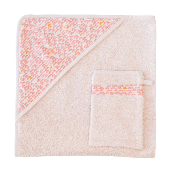 Hooded Towel Pebble Pink