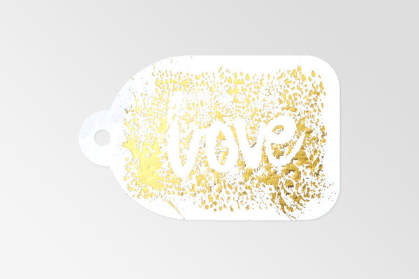 Love Gold Foil Tag