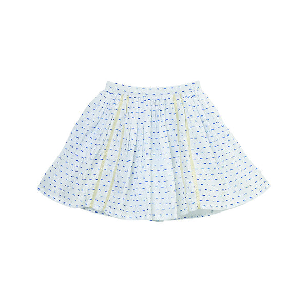 Blue White Cotton Anna Skirt