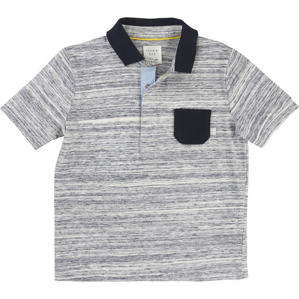 Marine Ecru Boys Polo
