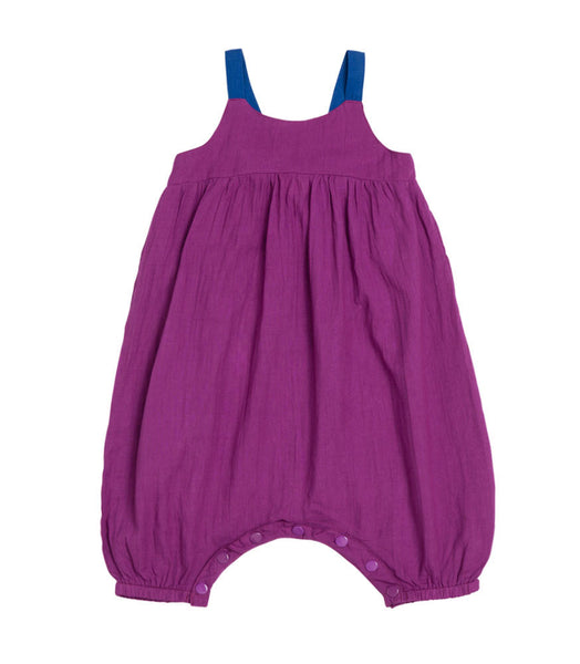 Baobab : Purple Poplin Playsuit